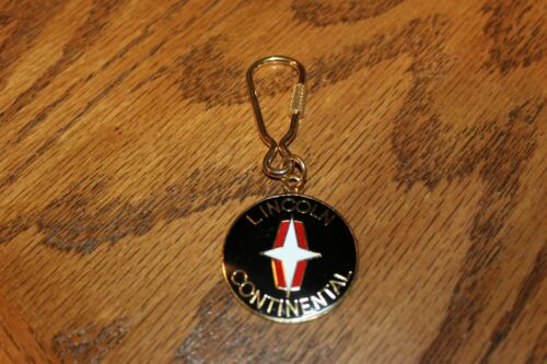 Lincoln Continental with Gold Metal Emblem Key Ring Fob  Keychain
