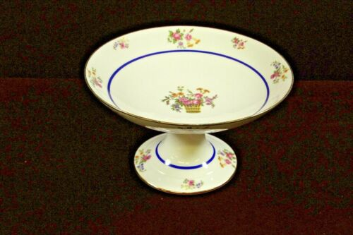 W & G Limoges  China  Compote  Floral pattern