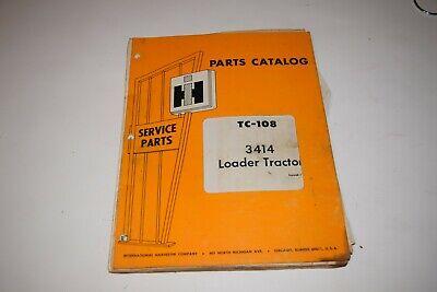 International Harvester 3414 Loader Tractors Parts Catalog