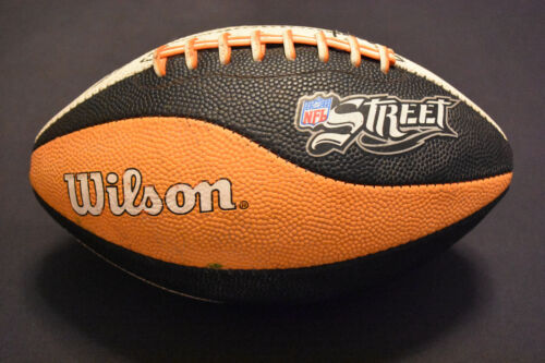 NFL Street Video Game Promotional Orange Black and White Football