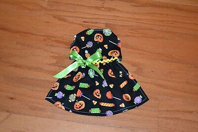 Small - Halloween Candy on Black  - Dog dress clothes-Puppy Apparel -TOY - Candy On Halloween