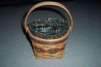 Longaberger 1999 Little Joy Basket Combo (Basket, Liner, Protector, Card)