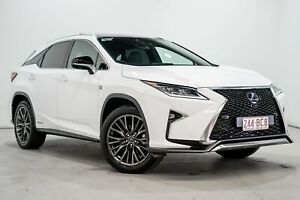 2018 Lexus RX450H GYL25R MY17 F Sport Hybrid White Continuous Variable Wagon