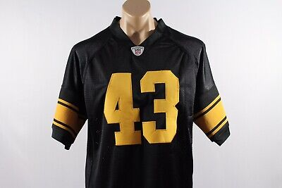 Pittsburgh Steelers Troy Polamalu Authentic Alternate Home Jersey — 50 (XL)