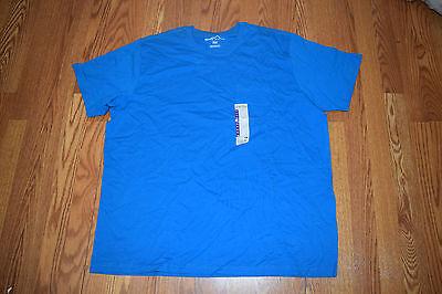 New Mens EDDIE BAUER Wave Blue Pocket Basic T Shirt Size M Medium