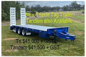 New Triaxle Tag / Machinery trailer with hydraulic ramps Pickering Brook Kalamunda Area Preview