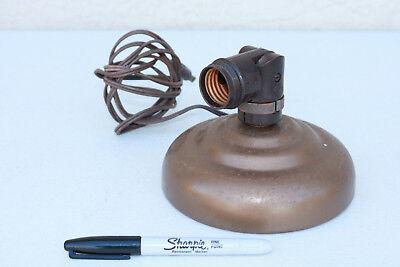 Round Metal LAMP base adjustable STEAM industrial clean wall hang light MCM old