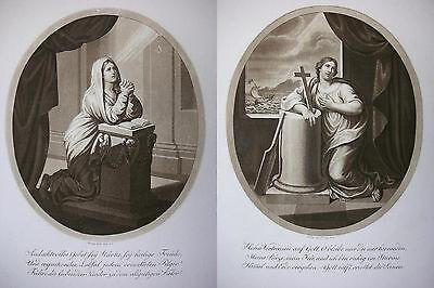 J. H. LIPS ´GEBET UND VERTRAUEN´ 2 x AQUATINTA, KRUSE 246 u. 247, 1812