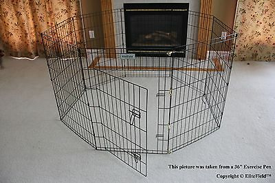 Black EliteField Exercise Pen Dog Crate w/8 - Dog Exercise Pen Free Shipping