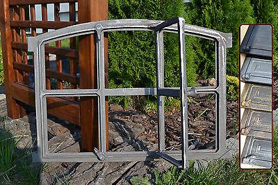 567 x 423mm Neu Fenster mit Tür +Bogen Gussfenster Stallfenster Gußfenster Farbe