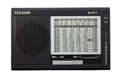 TECSUN R-911 Multi-Bands Radio Receiver FM/MW/SW 1-9   **English Manual**