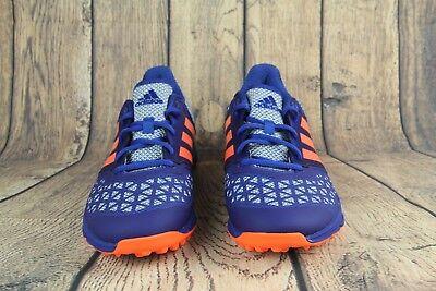 44453ffa2010 Adidas Zone Dox Field Hockey Turf Trainer Shoes Blue Orange AQ6520 SZ 10
