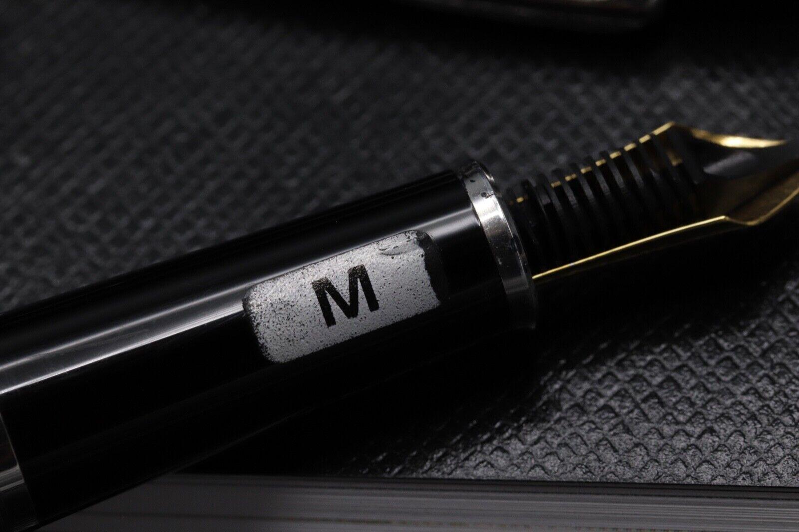 Montblanc Meisterstuck 144 Classique Carbon Steel Fountain Pen 3
