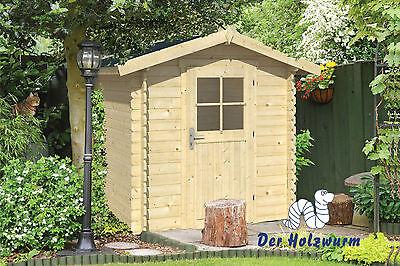 Gartenhaus Richard Blockhaus 200x200 cm Gerätehaus Holzhaus 28 mm Holz Schuppen