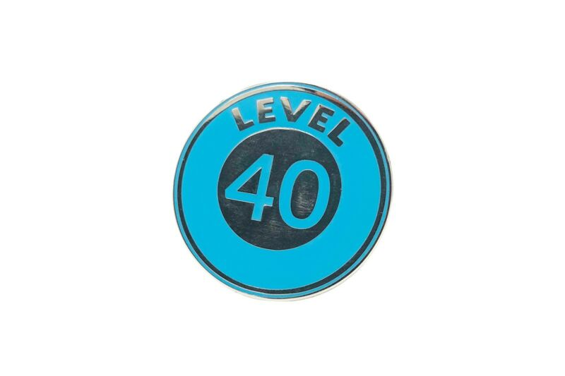 Pokemon Go Level 40 Hard Enamel Collectable Pin 1.3 inches