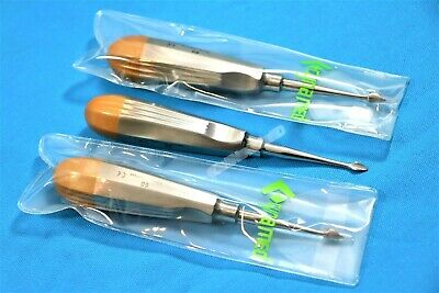 3 Ea German Dental Tooth Surgery Straight Spade Concave Root Tip Elevator 60