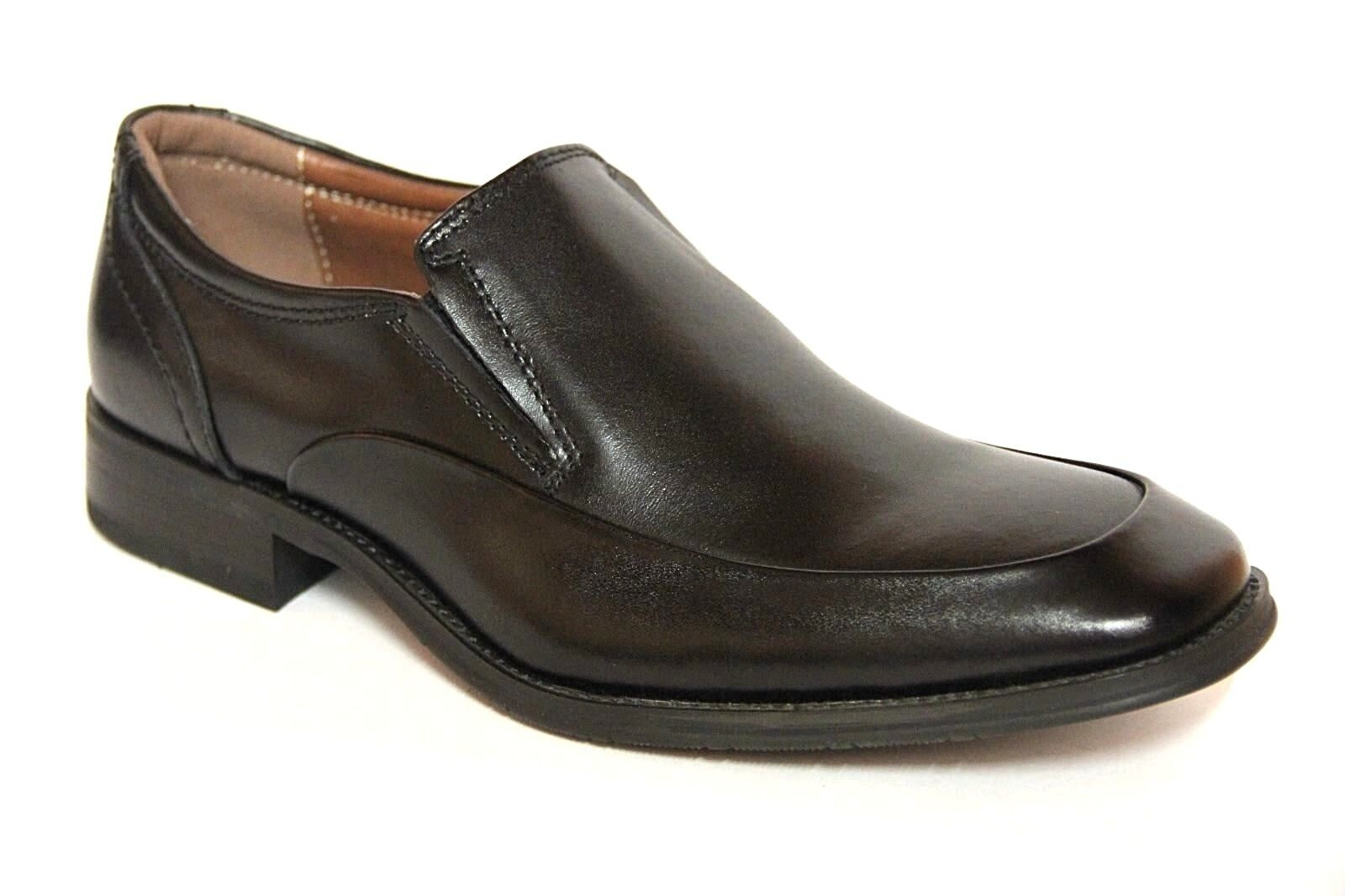 NXT MEN'S SLIP ON BLACK LEATHER DRESS LOAFER SHOES  N21036 1