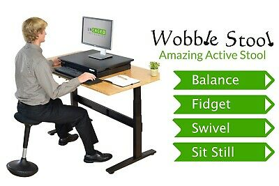 Wobble Stool Best Standing Desk Office Balance Stability Ball Chair Adjustable