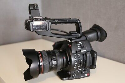 Canon C100 MKII PAL Camcorder & Canon EF 24-105mm IS USM f/4 Lens -  Mark 2