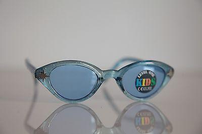 Sparkling Crystal Blue Cat Eye Frame, Blue lenses by LEVEL (Level One Sunglasses)