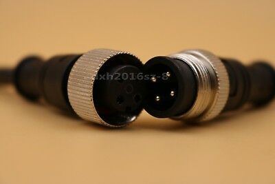 1pair Ip68 Waterproof 4pin Cable Wire Connectors 20awg Metal Wrapped Fixed