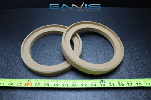 2 MDF SPEAKER RING SPACER 6.5 INCH WOOD 3/4 THICK FIBERGLASS BOX RING-6.5GR