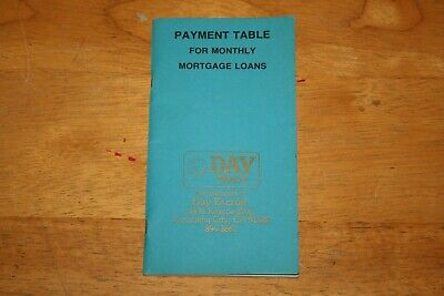 DAY REALTY / ESCROW * Amortization / Payment Table BOOKLET 1979 * Mortgage Loans