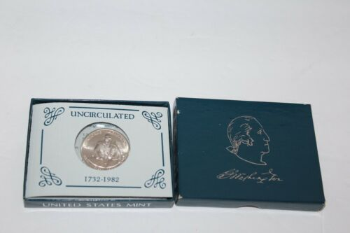 BEAUTIFUL 1982-D  UNCIRCULATED GEORGE WASHINGTON SILVER HALF-DOLLAR COIN IN BOX