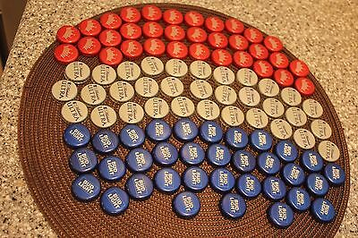 100 BUD MICH ULTRA BUD LIGHT RED WHITE BLUE BEER BOTTLE CAPS NO DENTS FLAG CRAFT