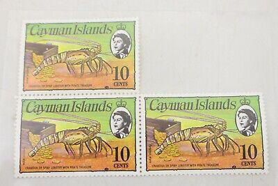 Vintage Cayman Islands 1974 10 cents Stamp Lot of 3 M63