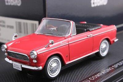 Ebbro 43714 1:43 Scale Daihatsu Compagno Spider 1965 Die Cast Model Car Red