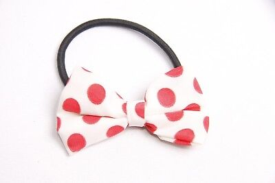 Fantastic 50's Style Women Hair Band w White Bow&Red Polka Dot Pattern (S313) - 50's Style Hair