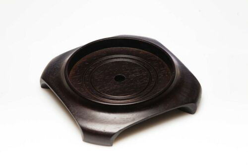 Hand carved Chinese Hongmu Wood Round Vase Stand for 4.5 inch Base NEW