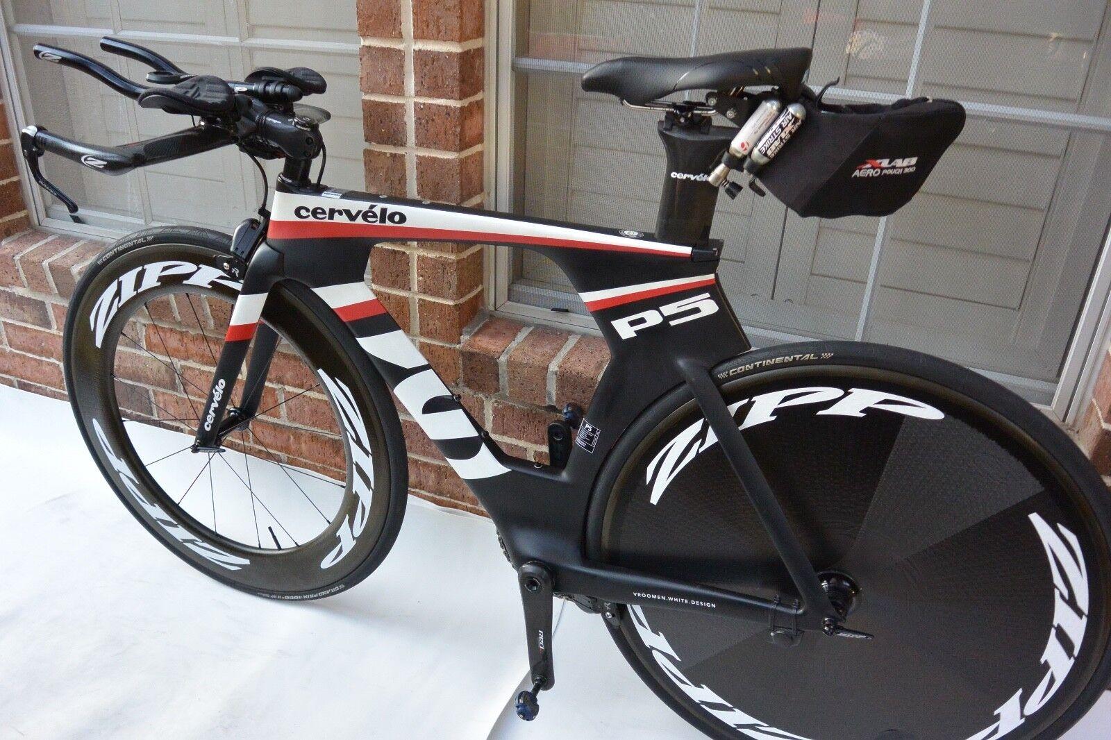 Cervelo P5 Three 51cm Sram Etap 11 Speed Carbon Aero Triathlon Bike(NO WHEELS)