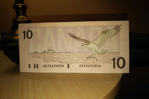 1989 Replacement $10 Dollar Bank of Canada Banknote ADX0654506