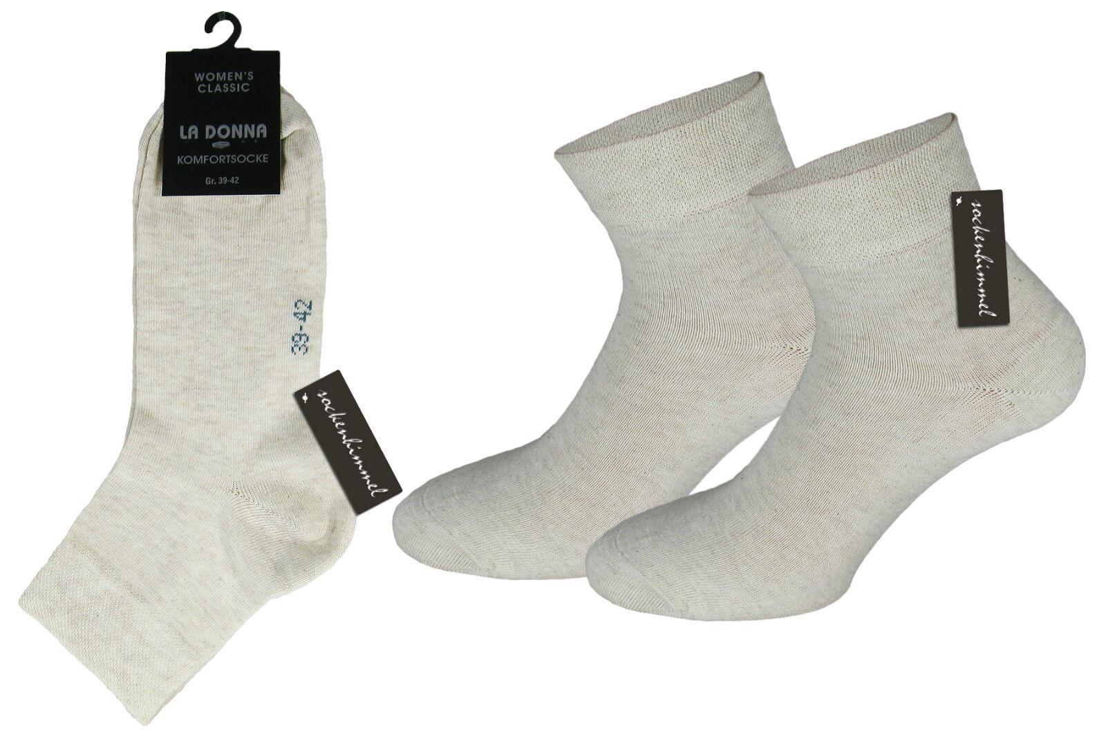 39-42 Damen Socken Strümpfe venenfreundlich,ohne Gummi Gr 35-38