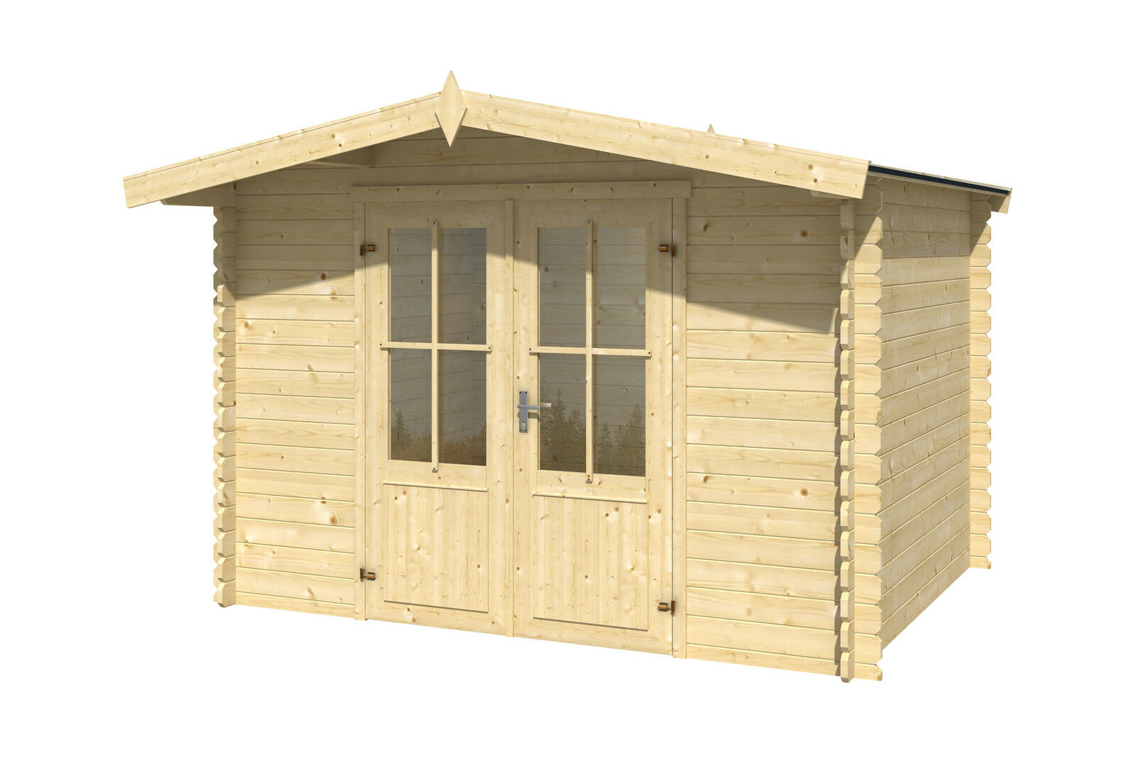 gartenhaus ca 300x250 cm ger tehaus blockhaus schuppen qualit t holz 28 mm eur 849 00. Black Bedroom Furniture Sets. Home Design Ideas