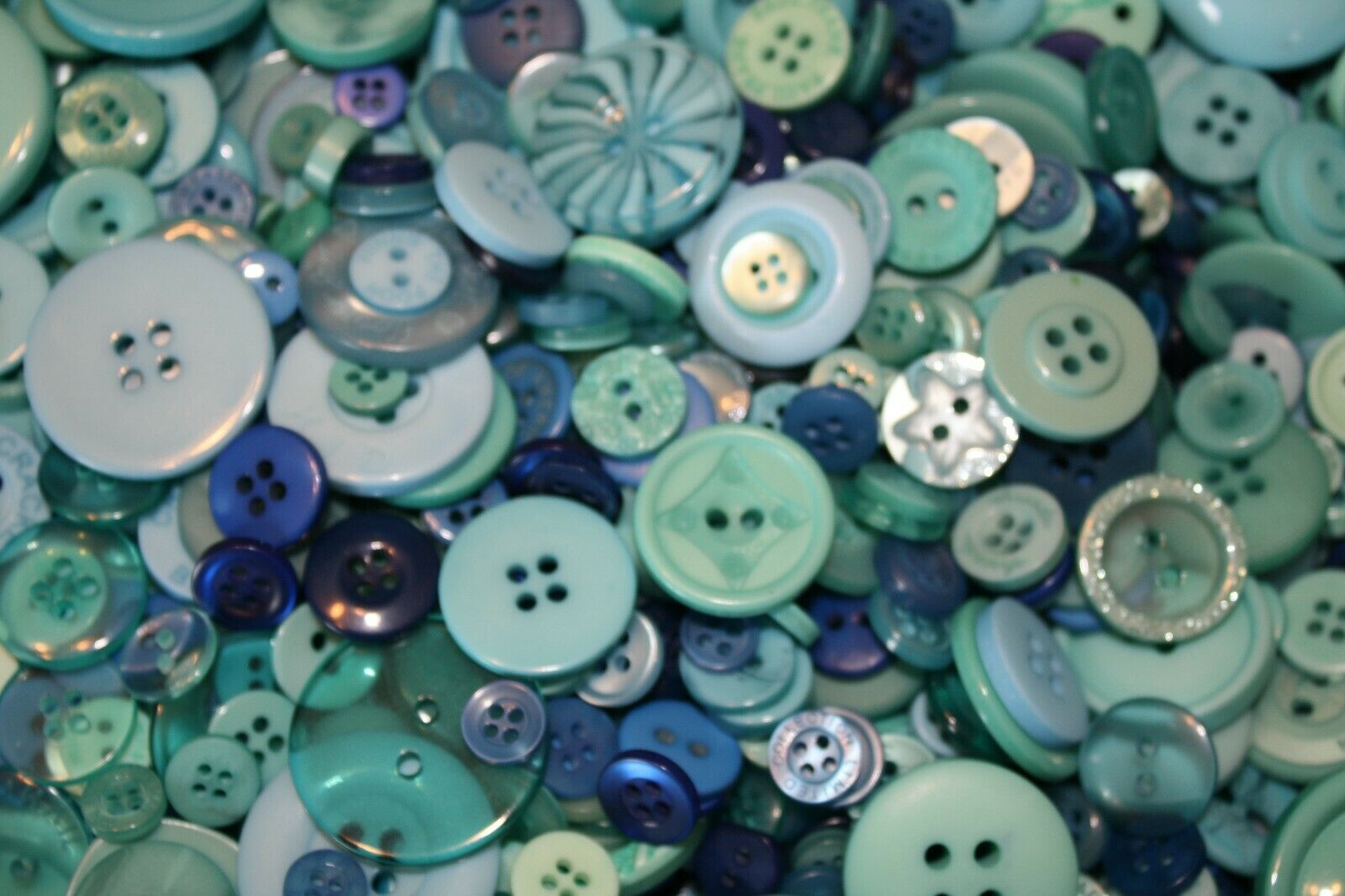Hand Dyed New Buttons in Colorfull Mixes Lot of 50-Art, Craf
