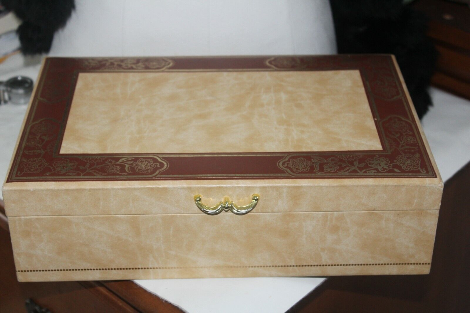 Estate Vintage Retro Mele Jewelry Organizer Box - $17.99