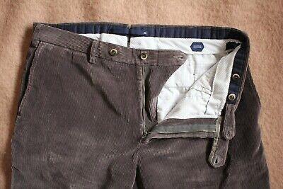 Incotex Slowear Flat front Brown Gray Corduroy Cotton Pants EUC 38 36 x 32 33 34