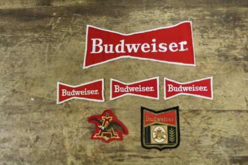 Anheuser Busch BUDWEISER Beer Employee Driver Vintage Patch LOT OF 6 Patches