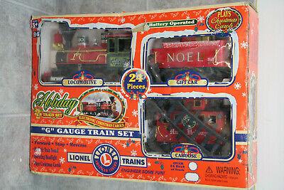 Lionel Trains Holiday Train Christmas Railroad Set G Gauge in Orig Box / 62134