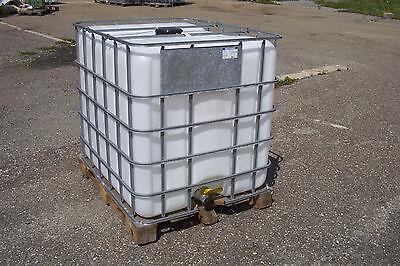 IBC Tank Container, Regenwassertank 1000L auf Holzpalette 1.Wahl #1, gebraucht gebraucht kaufen  Berghülen