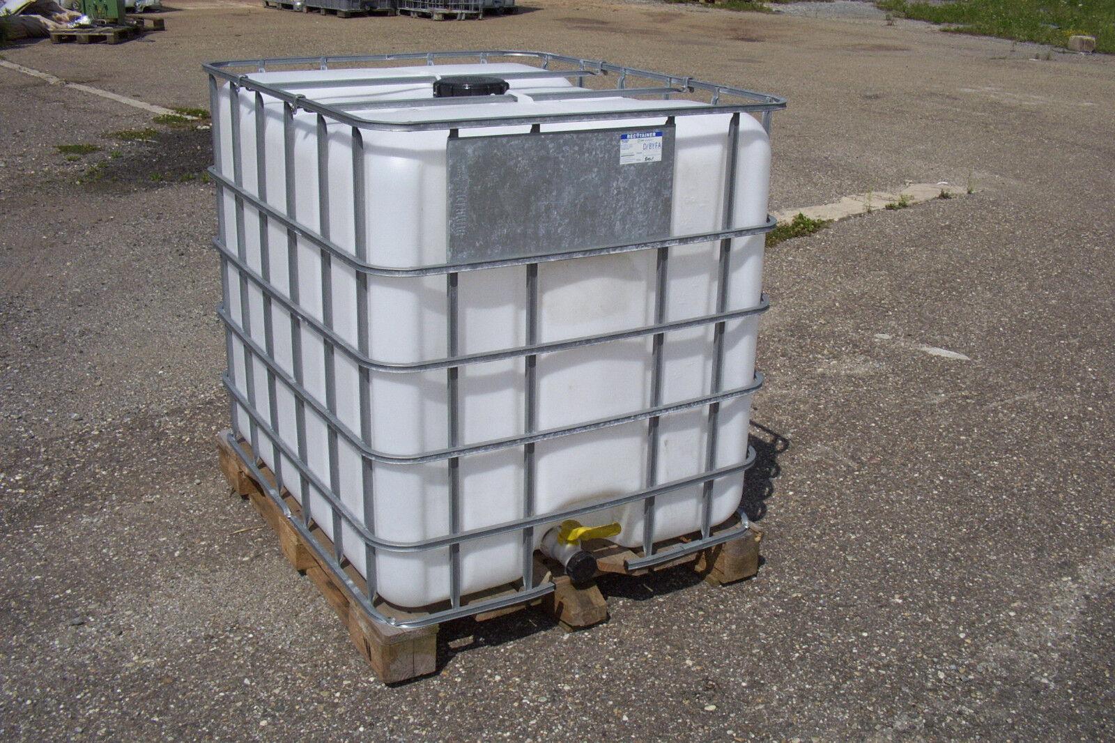 IBC Tank Container, Regenwassertank 1000L auf Holzpalette 1.Wahl #1