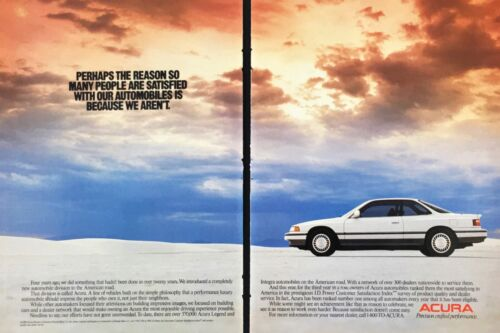 1989 Acura Legend White Car Color Photo Vintage Print Ad