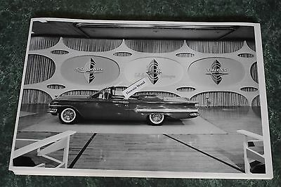 "12 By 18"" Black & White PICTURE 1960 Chevrolet Impala 2 door convertible"