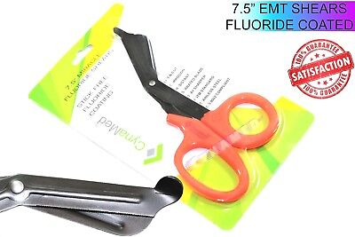 Emt Trauma Paramedic Shears 7.5 Serrated Fluoride Coated German Orange Rings