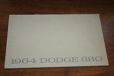 1964 DODGE 880 PRESTIGE  DEALER  SALES BROCHURE ORIGINAL