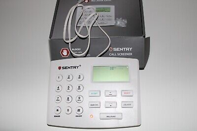 Sentry 3.1 Block All Solicitor Smart Active Call Screener CT-CID868