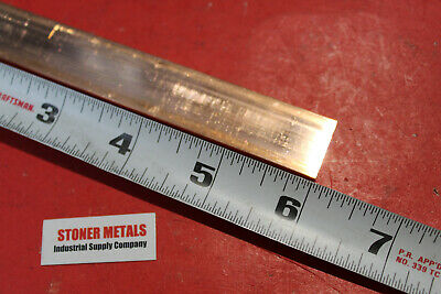 18x 34 C110 Copper Bar 6 Long Solid Flat Mill Bus Bar Stock H02 .125